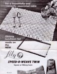 Lily Speed-O-Weave Oblong Luncheon Set