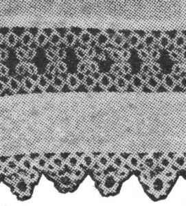 Tatted Edge and Insertion for the Curtain from The Modern Priscilla for June, 1917