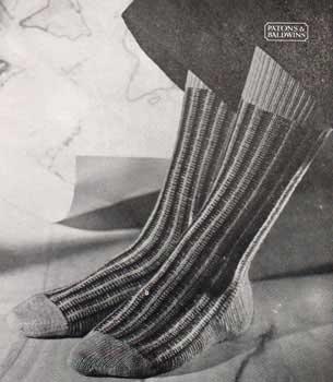 striped calf length socks for men