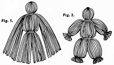 How to make the yarn dolls