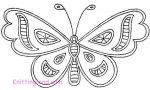 Simple Cutwork Butterfly c1930