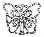 Cutwork Butterfly Motif c1940