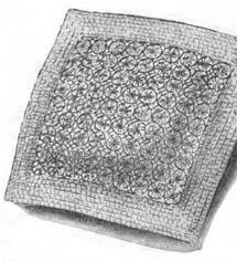 Flower loomed cushion