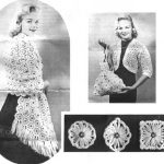 Stole, Shrug, Handbag and Three Different Shapes on the Crazy Daisy Winder c1945