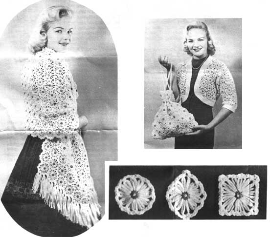 Vintage shawl made on a daisy winder