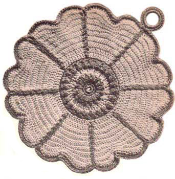 Daisy shaped pot holder