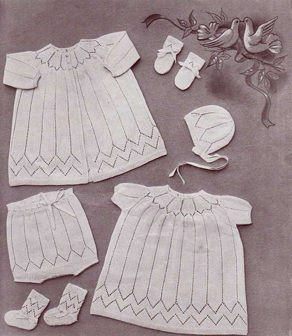 Knitting daydream baby layette with free knitting patterns