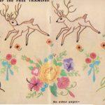 Deer, Trees and Flowers