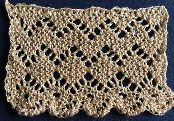 Diamond Lace With Blonde Edge Knitting And