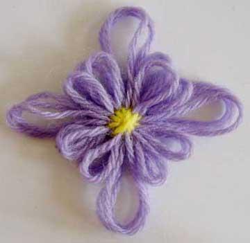 Diamond shaped loomed flower