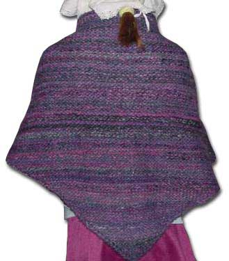 Back of the dishcloth shawl