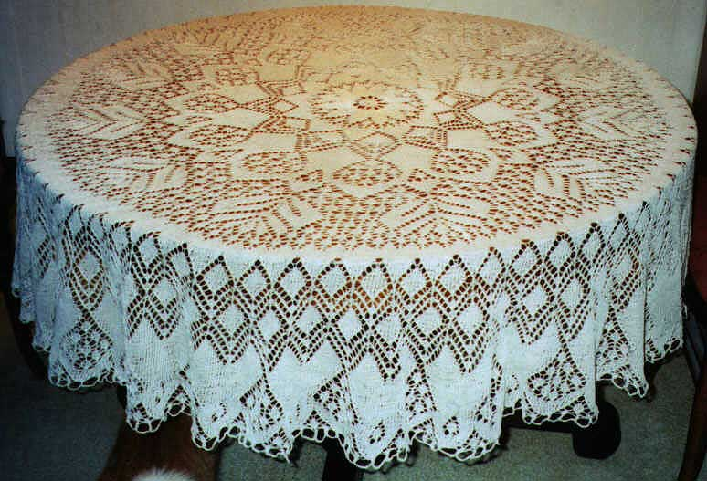 Crochet Lace Tablecloth Patterns Elcho Table