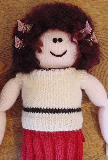 Doll's knitted shirt