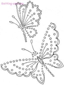 Broderie anglais butterfly embroidery design