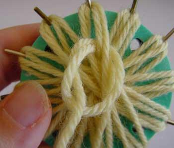 Anchoring the yarn