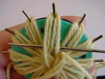 Beginning the weaving