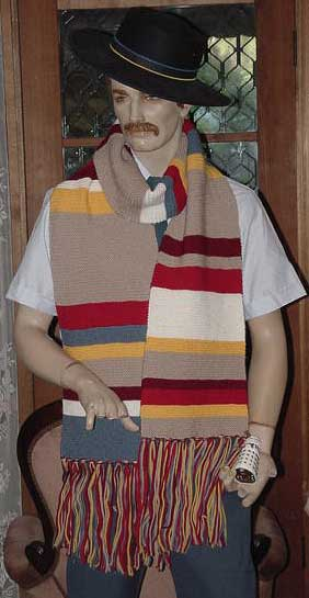Doctor Who striped scarf