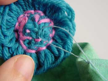 Stitching the flower