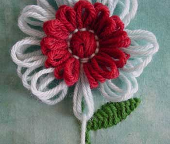 Embroidering With Loomed Flowers Knitting And Com