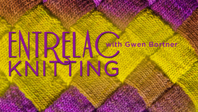 Entrelac Knitting class on Craftsy