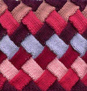 Knitted Blankets Squares Block Patterns