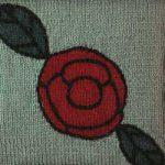 Oddball Sampler Afghan Square #21: Erte Rose