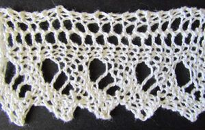 Simple eyelet lace knit from a Victorian era knitting pattern