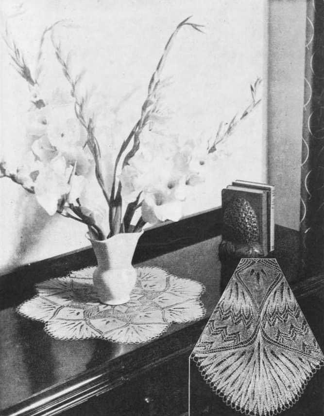 Vintage lace knit doily