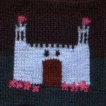 Oddball Sampler Afghan Square #39: Fairy-Tale Castle