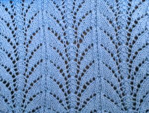 Knitted lace fern stitch