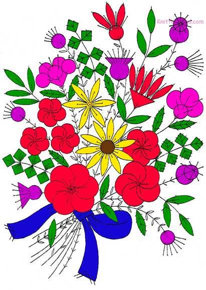 Felt flower design from the 1930s