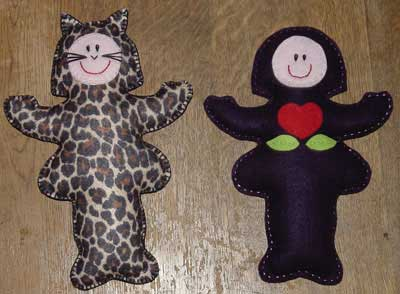 Stuffed felt Betsy dolls