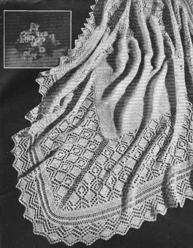 Fleecy Baby Shawl Knitting And