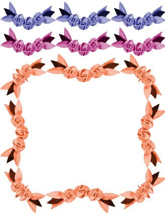 Fabric flower swags. Free Illustrator brushes.
