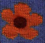 Large Intarsia Flower Knitting Chart