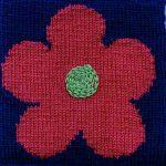 Oddball Sampler Afghan Square #10: Flower Power