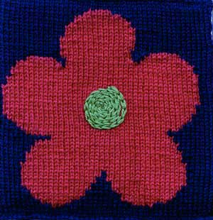 Flower Power Afghan Square