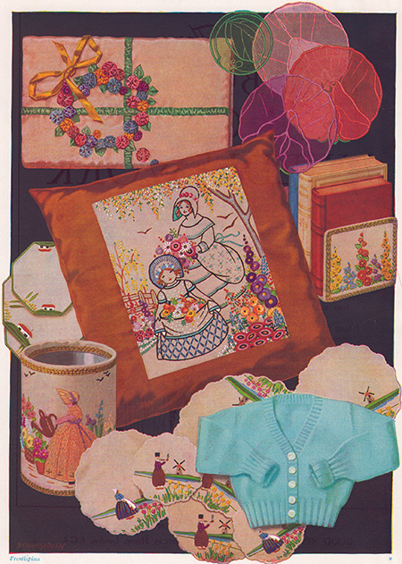 Vintage embroideries from the good needlework gift book, number one