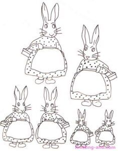 Girl rabbit embroidery patterns