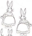 Boy and Girl Bunnies c1920-30