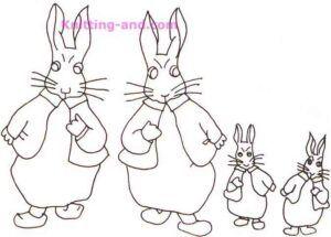 Boy rabbit embroidery patterns