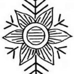 Geometric Flower Motif c1928