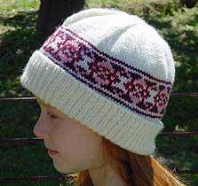 The finished fairisle hat