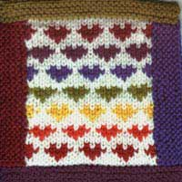 Heart Fair-Isle Modular Afghan Square