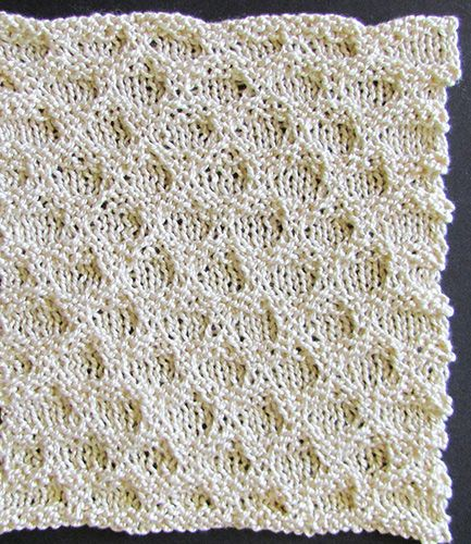 Honeycomb knit blanket panel knit from a Victorian era knitting pattern.