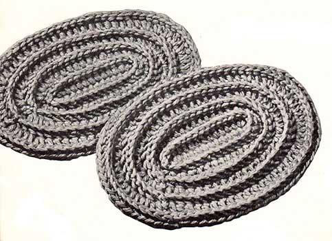 round ridged hotplate mats