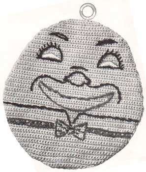 Humpty dumpty shaped potholder