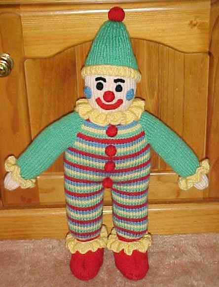 Jean's Knitted Clown