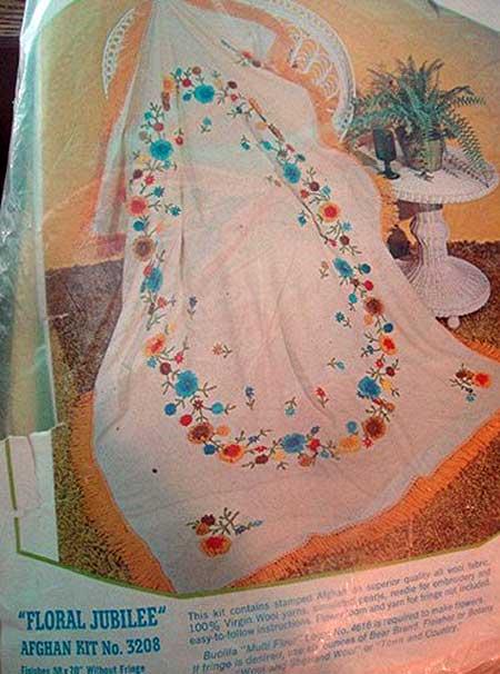 Floral jubilee afghan kit