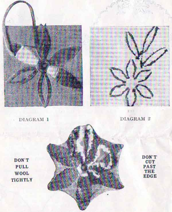 Sample page from the Kay's embroidery instruction booklet